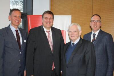 """Organisatoren und Referenten des """"CiK-Forums"""" (v.l.): Prof. Dr. Michael Fischer, Thomas Gäde, Josef Leenders, Dr. Klaus Goedereis."""